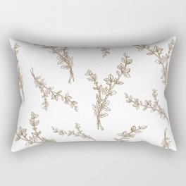 gold thyme in pattern Rectangular Pillow