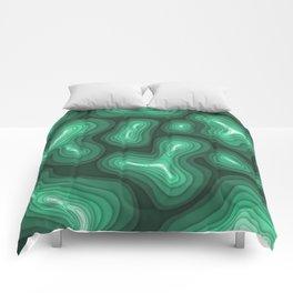 Green Topography Comforters