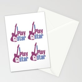 I Play Guitar (2) Stationery Cards