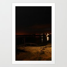 Jetty in the Sand 2 Art Print