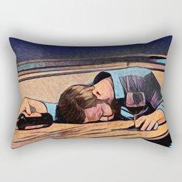 Blue Collar Night Rectangular Pillow
