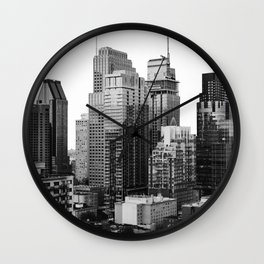 Montreal Québec, Canada City Skyline Downtown Wall Clock