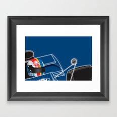 François Cevert, Tyrrell 003, 1972 Framed Art Print
