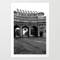 The Entrance to The Mall,black&white Art Print