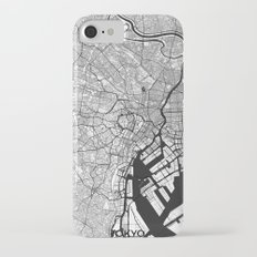 Tokyo Map Gray iPhone 7 Slim Case