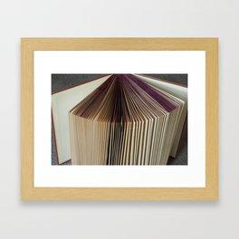 Fanned Book Framed Art Print