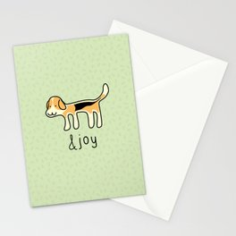 Cute Beagle Dog &joy Doodle Stationery Cards