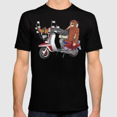 scooter is my soulmate MEDIUM Mens Fitted Tee Black