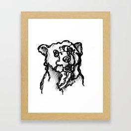 A bear Framed Art Print