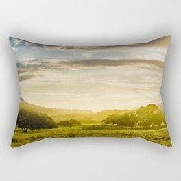 Sunrise over the farm Rectangular Pillow