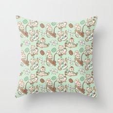 Kittea Time Throw Pillow