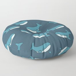 Whale illustration pattern Floor Pillow