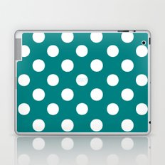 Polka Dots (White/Teal) Laptop & iPad Skin