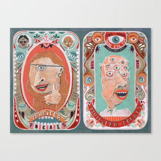 Monster Focals Canvas Print