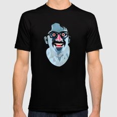 Portrait of Alonso Quijada SMALL Black Mens Fitted Tee