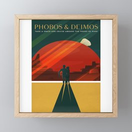 Phobos Deimos Framed Mini Art Print