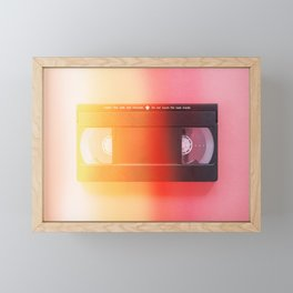 VHS#exposure#film#effect Framed Mini Art Print