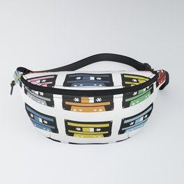 Rainbow Black Tapes Fanny Pack