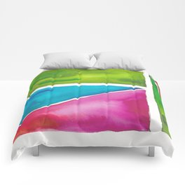 180811 Watercolor Block Swatches 5| Colorful Abstract |Geometrical Art Comforters