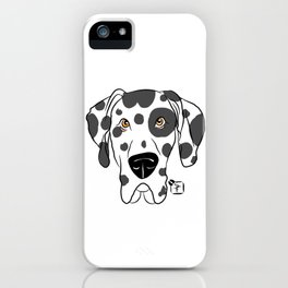 Harlequin Great Dane Face iPhone Case