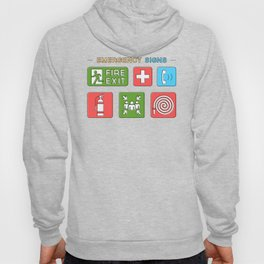 Evacuation Day Exit Sign And Meeting Point Hoody