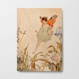 """Fairy Among Flowers"" by Erich Schutz Metal Print"