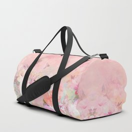 Modern blush watercolor ombre floral watercolor pattern Duffle Bag