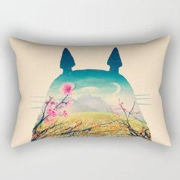 Tonari Sakura flower Rectangular Pillow