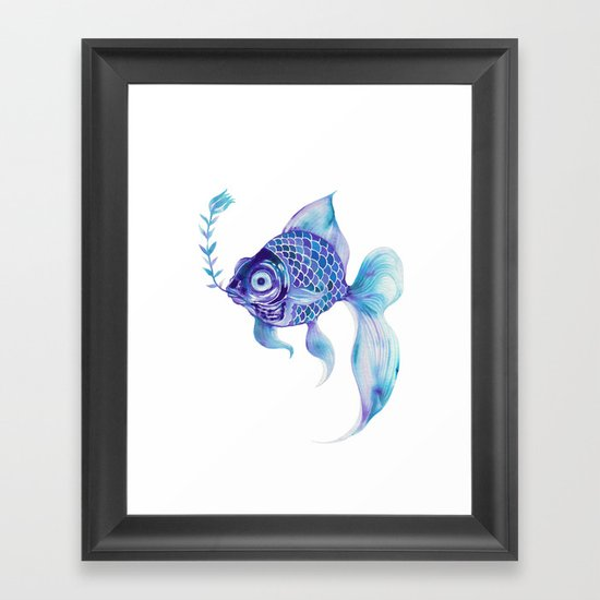 Baby Blue #5 Framed Art Print
