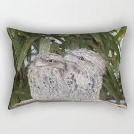 Tawny Frogmouth Bird Rectangular Pillow