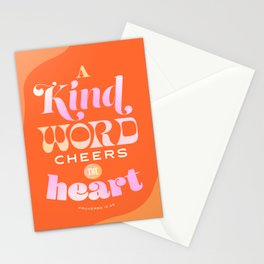 Proverbs 12:25 Stationery Cards