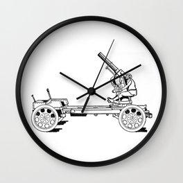 Anti-aircraft gun. Wall Clock