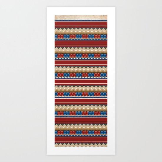 Navajo Pattern 2 Art Print
