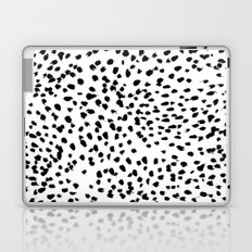 Nadia - Black and White, Animal Print, Dalmatian Spot, Spots, Dots, BW Laptop & iPad Skin