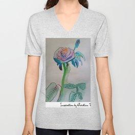 Flower rainbow inspiration modern paintings by Christian T. Unisex V-Neck