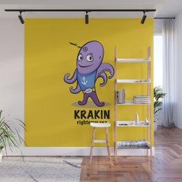 krakin righteous sea Wall Mural