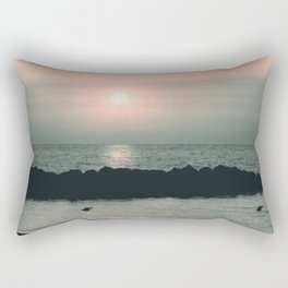 Sunset Ocean Bliss #4 #nature #art #society6 Rectangular Pillow