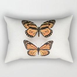 Two Orange Butterflies Rectangular Pillow