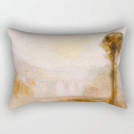 """J.M.W. Turner """"The Ponte Delle Torri, Spoleto"""" Rectangular Pillow"""