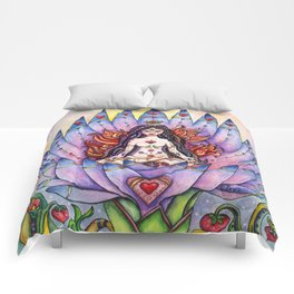 Lotus Goddess Comforters