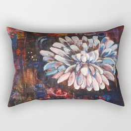 Just A White Bloom Rectangular Pillow