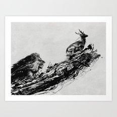 Intense Chasing Art Print