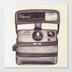 Ballpoint Palaroid Camera Canvas Print