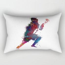 Lacrosse player art 1 Rectangular Pillow