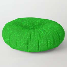 Neon Green Alien DNA Plasma Swirl Floor Pillow