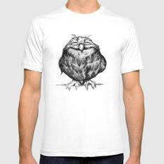 Owl Ball White MEDIUM Mens Fitted Tee