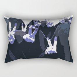 Blue Ink Victory Rectangular Pillow
