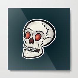 Mr. Skull (Blue) Metal Print