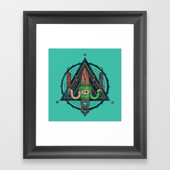 He, with the peculiar voice Framed Art Print