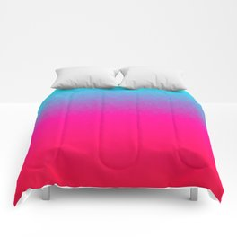 Blue purple and pink ombre flames Comforters